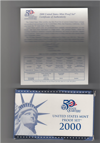 10 Coins 50 State Quarters Proof Set  (US Mint, 2000)