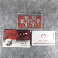 6 Coins Silver Quarters Proof Set  (US Mint, 2009)