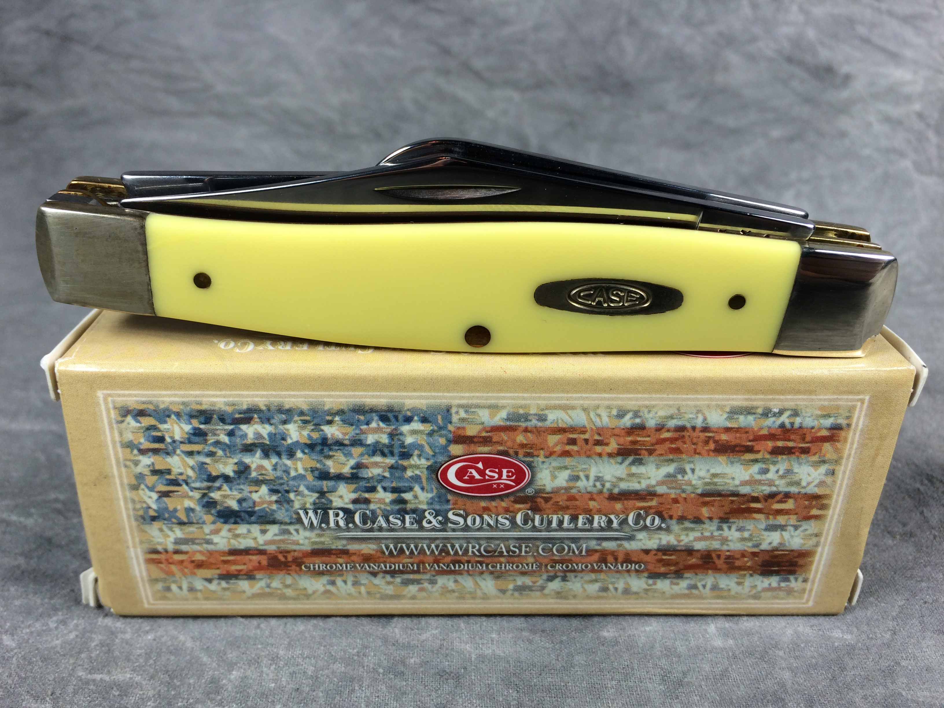 2012 case xx 3375 cv yellow large stockman pocket knife nmib