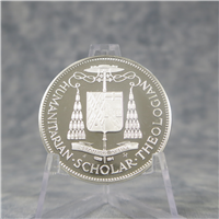 CARDINAL SPELLMAN Catholic Commemorative Medal Society Silver Memorial Medal (Franklin Mint, 1968)