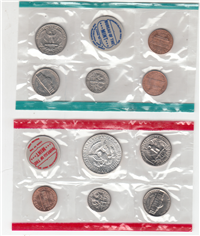 10 Coins Uncirculated Set (US Mint, 1968)