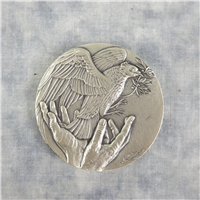 Richard M. Nixon Journey For Peace Silver Medal  (Danbury Mint, 1972)