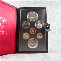 CANADA 7 Coin Double Struck Silver Dollar Proof Set (Royal Canadian Mint, 1978)