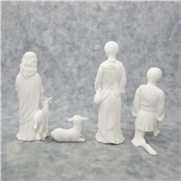 THE CHILDREN OF BETHLEHEM Nativity Sculpture Collection 5-5/8 inch White Bone China Figurines (Lenox, 1990)