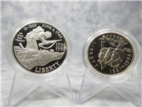 World War II 50th Anniversary Silver $1 Dollar & Half Proof Coin Set (US Mint, 1991-1995)