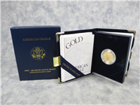 1/4 Ounce Gold American Eagle Proof $10 Coin in Box with COA (US Mint, 2003-W)