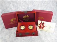 8-8-08 Double Prosperity Gold Amercian Eagle & American Buffalo Coin Set in Box with COA (US Mint, 2008-W)