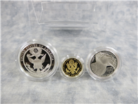 Bald Eagle Commemorative Gold & Silver 3-Coin Proof Set in Box with COA (US Mint, 2008)