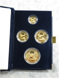 American Eagle Gold Proof 4-Coin Set in Box with COA (US Mint, 2007-W)