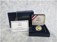 Bald Eagle Commemorative Proof Gold $5 Coin with Box and COA (US Mint, 2008-W)