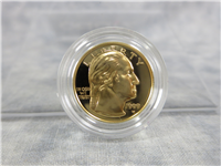 George Washington Bicentennial Commemorative Proof Gold $5 Coin with Box and COA (US Mint, 1999-W)