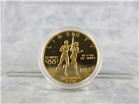 Olympic Gold Eagle Commemorative Proof $10 Coin with Box and COA (US Mint, 1984-S)