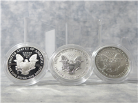 American Eagle 20th Anniversary 3-Coin Silver Set in Box with COA (US Mint, 2006)