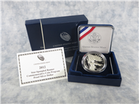 Star-Spangled Banner Silver Dollar Proof Coin Box with COA (US Mint, 2012-P)