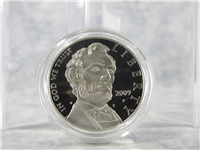Abraham Lincoln 200th Anniversary Silver Dollar Proof Coin with Box & COA (US Mint, 2009-P)