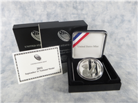 September 11 10th Anniversary One Ounce Silver Proof National Medal in Box with COA (US Mint, 2011-P)