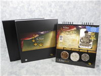 5-Star Generals Profile Collection Silver Dollar 3-Coin Uncirculated Set in Box with COA (US Mint, 2013)