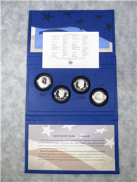 Kennedy Half-Dollar 50th Anniversary 4-Coin Silver Collection in Box with COA (US Mint, 2014)