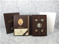 Lincoln Coin & Chronicles Silver Dollar & 4-Penny Set in Box with COA (US Mint, 2009)