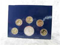 6-Coin Annual Uncirculated Dollar Coin Set with Silver American Eagle (US Mint, 2015)