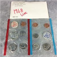 1968 USA 10 COINS UNCIRCULATED SET 40% Silver Kennedy Half  (U.S. Mint, 1968)