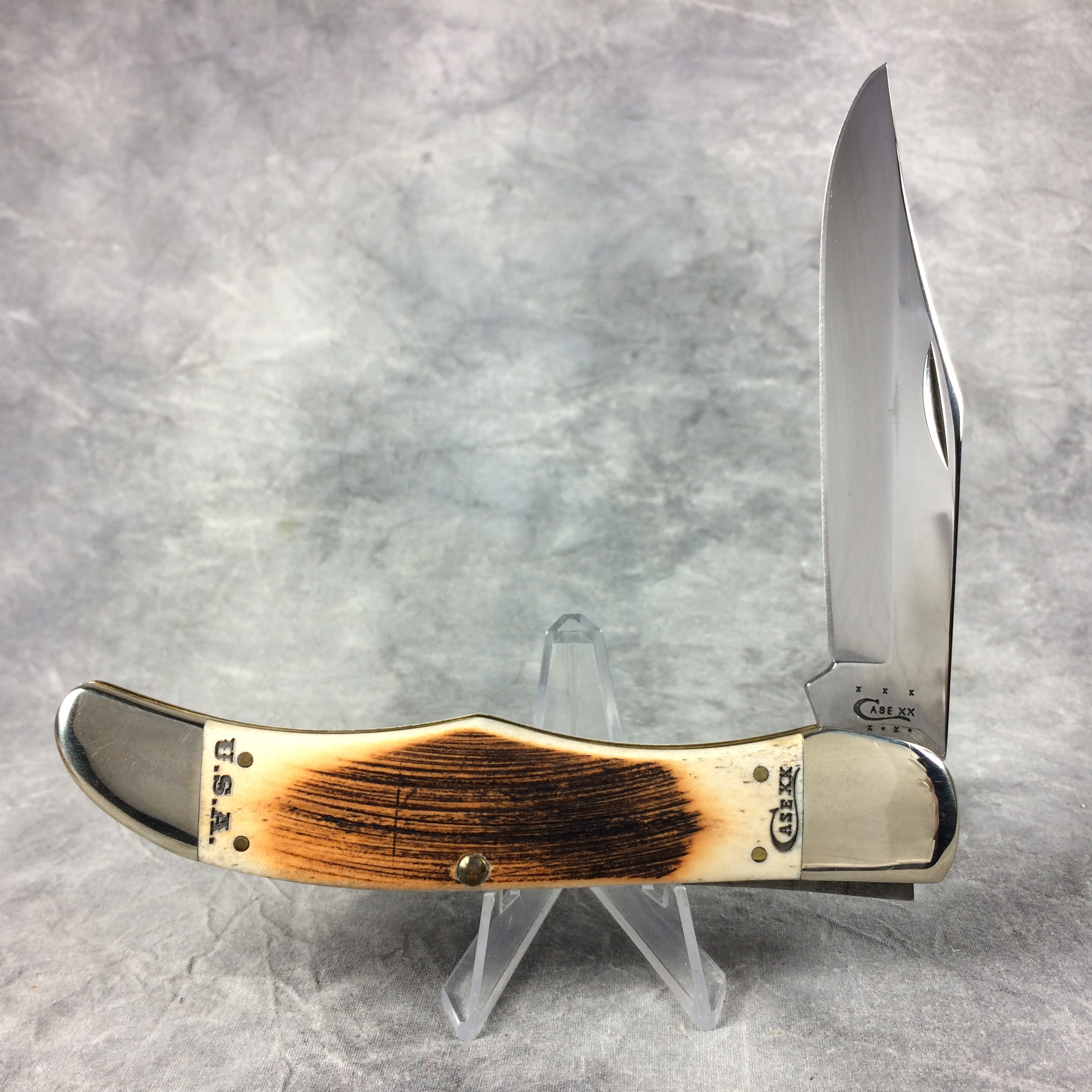 2014 case xx 6165 cv amber bone hunter folding pocket