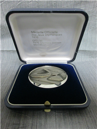 Official 1976 XXI Olympic Games Medallion Fine Silver
