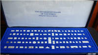 The 100 Greatest Stamps of the World Sterling Silver Miniature Collection   (Franklin Mint, 1986)