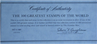 The 100 Greatest Stamps of the World Sterling Silver Miniature Collection   (Franklin Mint, 1981)