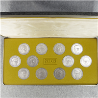 The 12 Twelve Caesars Medals Collection (Franklin Mint , 1973)