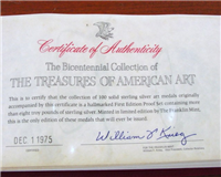 The Treasures of American Art Medals Collection  (Franklin Mint)