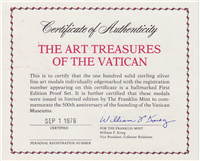 The Art Treasures of the Vatican Medals Collection  (Franklin Mint, 1976)