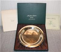 National Audubon Society's John James Audubon 'Audubon's Warbler' Limited Edition Plate   (Franklin Mint, 1974)