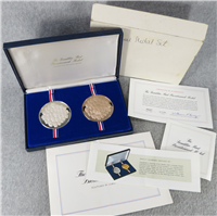 The Bicentennial Medals Proof Set (Franklin Mint, Sterling and Bronze, 64mm, 1975)