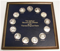 The Bicentennial Medals of the 13 Thirteen Original States  (Franklin Mint, 1975)