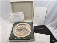 Richard Evans Younger 'The Cardinal' Sterling Silver Bird Plate (Franklin Mint, 1972)