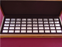 1000 One Thousand Years of British Monarchy Ingots Collection  (Franklin Mint, 1973)