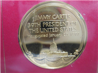 Franklin Mint  Carter Ford Presidential Debate Eyewitness Medal (24KT GP)