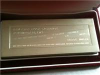 Franklin Mint  Dow Jones 1000 Gram Commemorative Silver Ingot