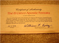 The El Greco Apostle Portraits Ingot Collection   (Franklin Mint, 1976)
