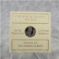 First Step on the Moon Eyewitness Platinum Mini-Coin (Franklin Mint, 1969)