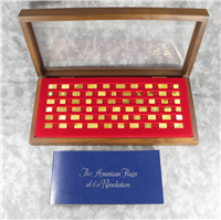 The American Flags of the Revolution 24 KT Gold Mini-Ingot Collection (Franklin Mint, 1975)
