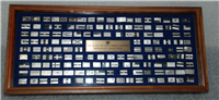 The Flags of the United Nations Mini Ingot Collection (Franklin Mint, 142 ingots, 1977)