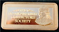 The Franklin Mint Collectors Society Gold Ingot   (Franklin Mint, 1976)