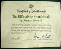 The Official Girl Scouts Medals Collection by Norman Rockwell   (Franklin Mint, 1977)
