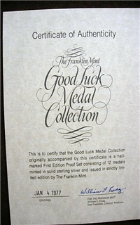 The Good Luck Medals Collection    (Franklin Mint, 1977)