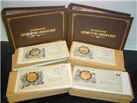 The History of the American West Commemorative Medallic Covers  (Franklin Mint, 1978)
