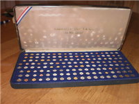 The Coins of the United States USA in Miniature Mini Coins Collection  (Franklin Mint, 1980)