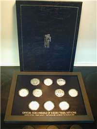 Franklin Mint  Indian Tribal Nations Series Medals Collection