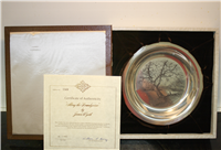 'Along the Brandywine' by James Wyeth  Limited Edition Plate  (Franklin Mint, 1972)